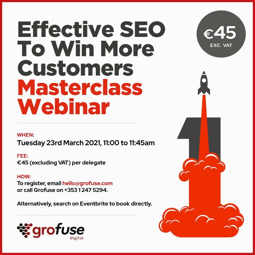 Grofuse SEO Masterclass Webinar